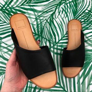 Dolce Vita Black Cato Asymmetrical Slide Sandals 9